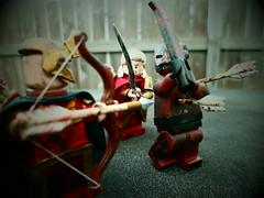 LOTR: Brawl at Helms Deep (Grant Me Your Bacon!) Tags: two lego towers deep lord elf rings custom helms elves berserker haldir