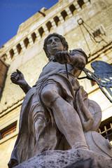 "Castel Sant'Angelo, Archangel Michael (Raffaello da Montelupo) • <a style=""font-size:0.8em;"" href=""http://www.flickr.com/photos/89679026@N00/6952411214/"" target=""_blank"">View on Flickr</a>"