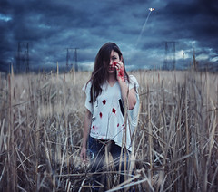 I am Titanium (AmyJanelle) Tags: sky storm field grass photography intense blood cut wheat rip injury helicopter powerlines cattails swamp worn powerline bullet bloody concept