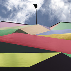 Tumultuous (Arni J.M.) Tags: sky building lamp wall architecture clouds geotagged switzerland colours postoffice luzern geotag tumultuous nikond80 bestcapturesaoi elitegalleryaoi