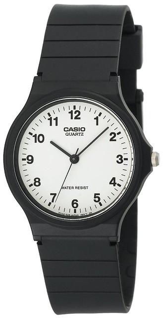 卡西欧CASIO男士黑色树脂表带手表MQ24-7B $9.38