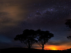 And the Moonset in the west ........ Explored (John Finnan) Tags: stars silhouettes australia queensland moonset toowoomba darlingdowns johnfinnan