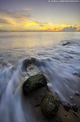 Pantai Teluk Kabung (Faizal Jasri) Tags: sunset rock nikon singapore tripod sigma wave wideangle foam 1020mm pantai shutterrelease teluk orangasli newvision 15second pasirgudang kabung peregrino27newvision