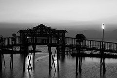 lovely bridge at night at Inle-lake, Burma (NastyNinja) Tags: china bridge shadow bw white lake black reflection water river thailand mirror asia asien mark burma iii ii 5d myanmar inle 28 birma markii markiii 2470 nastyninja
