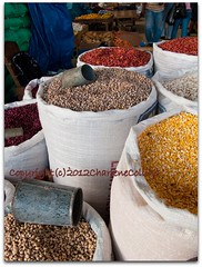 Coronation - Peas and Beans [4450] (Charlene Collins.still charlene) Tags: beans corn jamaica peas legumes coronationmarket marketkingstonjamaica
