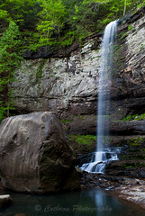 Hemlock Falls in Cloudland Canyon (John Cothron) Tags: longexposure fern water rock creek 35mm canon river georgia landscape morninglight waterfall moss spring sandstone stream unitedstates scenic flowing freshwater greenplant shale talus risingfawn waterfall2 dadecounty cloudlandcanyonstatepark danielcreek johncothron 5dmkii cothronphotography zeissdistagont352ze johncothron img09900120414 90fthigh cloudlandhemlockfalls thewaterfallstrail