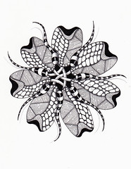 cobra dreams (Jo in NZ) Tags: mandala zentangle nzjo zendala