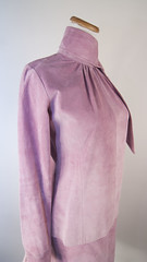 Pink suede blouse skirt set 80s glam (Sweet Vintage Lady) Tags: etsy prettyinpink 90sfashion 80sfashion pinksuede skirtset margaretgodfrey 80sglam sweetvintagelady