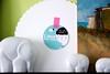 pink rain stikers on a plastic plate support ! ;) (Artoleria) Tags: homedecor walldecor stikers iloveyoursmile pinkraindesign cakeplatereuse