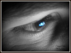 Proud to be Greek (Terezaki ✈) Tags: blue bw man eye art closeup greek photography photo cross searchthebest flag hellas greece creation human pictureperfect naturesfinest 希腊 100faves 50faves 100favs anawesomeshot flickrdiamond theperfectphotographer