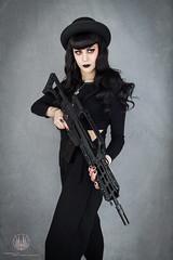 Guns N' Fashion - Gothic Fashion x G36K (saroston) Tags: girls hk woman sexy girl beautiful fashion project photography women all gothic rifle goth n we guns say gothica g36 so g36k