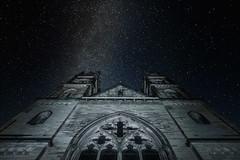 Milky Was over Apollinaris Church (kranzkreativ) Tags: church night germany way nacht kirche landschaft milky nachtaufnahme sterne remagen apollinaris milchstrase