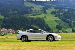 Eclipse in Bavaria (v6rev) Tags: auto car silver stock automotive 1999 turbo ii mk2 20 gst mitsubishi gsx awd dsm d3 i4 mkii 2g silber gen2 argento automobil machina 4g63 kfz d32