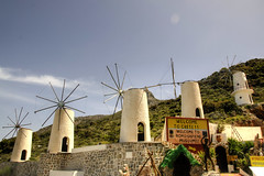 windmills (Tony Shertila) Tags: sky windmill weather museum architecture buildings geotagged europe day outdoor tourist clear greece crete grc tzermiado ker 20160414122714 geo:lat=3521531414 geo:lon=2546110511