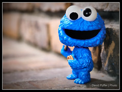 Against the wall eating a cookie (Puffer Photography) Tags: stilllife television toys pop actionfigures sesamestreet minifigs cookiemonster funko 2016 funkofantasy