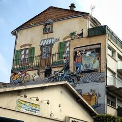 Un samedi  Malakoff (Eric_G73) Tags: streetart france art comics angoulme bd charente paintedwall lucien bandedessine murpeint margerin frankmargerin