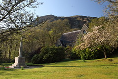 The Church of Scotland, Aberfoyle (Paul Emma) Tags: uk church scotland goat trossachs aberfoyle churchofscotland wildgoats