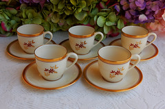 Early Lenox Porcelain Demitasse Cups & Saucers ~ Nydia ~ Green Mark (Donna's Collectables) Tags: green early mark cups porcelain ~ lenox saucers demitasse nydia