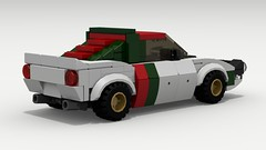 Lancia Stratos Rally (rear view) (Tom.Netherton1) Tags: road city italy classic cars sports car sport digital race speed vintage italian europe european lego pov designer rally racing legos download coupe dropbox speedster lancia racer v6 povray stratos rallying bertone ldd lxf
