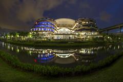 Sunset Blue Hour @ Safra Punggol, Singapore (gintks) Tags: reflection landscapes singapore architectural bluehour singapur waterway silkywater exploresingapore singaporetourismboard yoursingapore gintks gintaygintks punggolsafraclubhouse