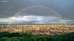 The sky and its color box (Stphane NinO) Tags: city sky cloud france color beautiful photography rainbow cityscape lyon pentax wideangle paysage vue ricoh arcenciel k1 fourvire exterieur