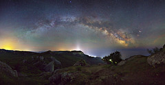 'Temple of the Sun' (Mike Reva) Tags: camping sky nature night stars coast colours nightscape russia ngc astro andromeda astrophotography astronomy nightsky milky stillness crimea constellations astrophoto stargazing milkyway cassiopea nghtsky canon5d2 samyang24