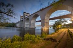 rstabroarna Tanto Stockholm City by Mlaren (Stefan Sjogren) Tags: bridge lake night train twilight sweden stockholm lakefront tanto tantolunden rsta liljeholmen hammarby rstaviken uppland