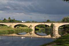 Le pont de l'eau rage (Et si, et si ...) Tags: reflet ciel pont loire orage fleuve
