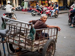 cigarette break (grapfapan) Tags: street travel people urban man bicycle cigarette candid transport streetlife vietnam