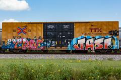 (o texano) Tags: bench graffiti texas houston trains wh tko freights benching croe jasf