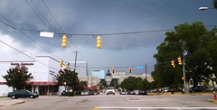 Friday storm (Just Back) Tags: street trees roof summer storm sexy art history cars love sc weather architecture clouds danger campus quercus mainstreet downtown traffic air capital columbia bookstore adventure capitol dome carolina usc alive excitement statehouse gamecock gococks lagerstroemia charlestonsucks