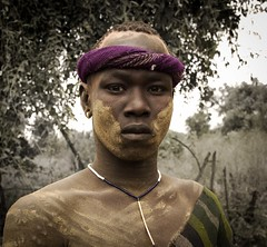 Mursi Warrior (Rod Waddington) Tags: africa african afrika afrique ethiopia ethiopian ethnic etiopia ethnicity ethiopie etiopian thiopien omovalley omo omoriver mago national park portrait painted people warrior man male mursi tribe tribal traditional culture cultural outdoor