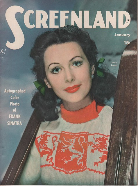 HEDY LAMARR on the January 1944 Screenland