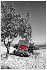Go Ride a Wave (fotografdude) Tags: sky color tree beach sign nikon kayak australia surfing surfboard signage queensland trailer hire noosaheads selectivecolour d90 beachhire fotografdude