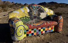 Arty couch, Rhyolite NV 2012 (Gord McKenna) Tags: california ca sea usa colour art rock creek photography death town mine desert ghost tripod panoramic mining couch hasselblad soil peter national workshop level valley gilbert medium format courtenay 40 dv geology february furnace rhyolite gord 2012 mckenna lorber gordmckenna h4d mckennasealevel playadeath parkcaliforniausadeath