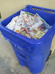 053/366 - My realization that media is changing A LOT! (CharlieBoy808) Tags: ads paper media potd bin recycle