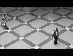 tangential (Mariasme) Tags: people walking floor squares shapes fromabove tiles shoppingmall directions gamewinner matchpointwinner friendlychallenges fotocompetitionsilver thepinnaclehof storybookwinner storybookbtd1st pregameduelwinner mpt233 tphofweek206