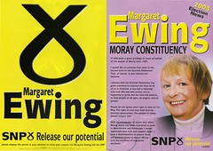 Margaret Ewing, Scottish Election Leaflet, 2003 (Scottish Political Archive) Tags: party scotland scottish national bain mp publicity campaign ewing snp