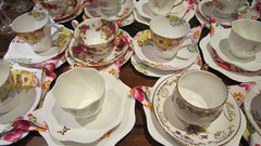 Tea Cups and Saucers (McLullich) Tags: vintage cupsandsaucers vintagepottery