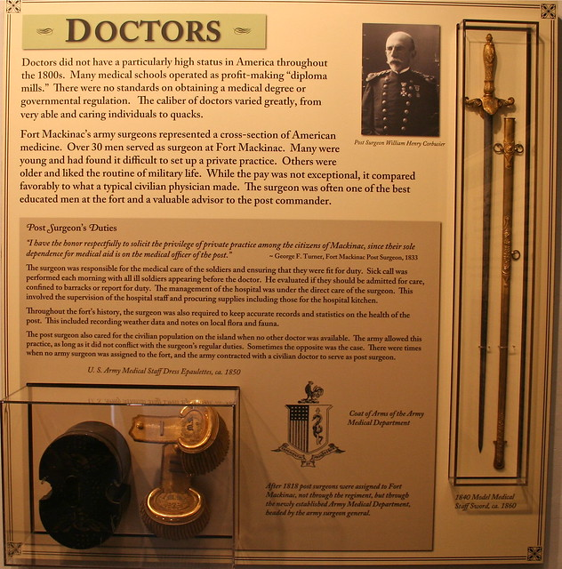 Over Thirty Men Served as Surgeons at Fort Mackinac.
