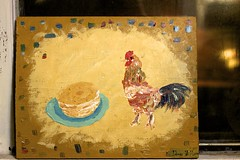 rooster pancakes (1) (davedehetre) Tags: pancakes painting acrylic board rooster