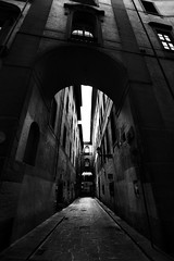 . (Nicol Panzeri) Tags: street blackandwhite bw italy monochrome canon florence alley strada italia wideangle monotone bn cobblestones firenze toscana vicolo grandangolo pathway biancoenero 1022 tuscan interno7 viale canon1022 ciottoli pav canon450d nicopino nicolpanzeri