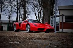 Red Ferrari Enzo (ZellusCars) Tags: red paris cars coffee ferrari enzo gto lamborghini dbs 599 aventador