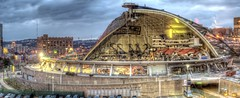 Civic Arena demolition panorama HDR (Dave DiCello) Tags: photoshop nikon downtown pittsburgh fisheye mellonarena civicarena steelcity photomatix pittsburghpenguins yinzer cityofbridges theburgh pittsburgher colorefex d700 nikond700 thecityofbridges pittsburghphotography davedicello pittsburghcityofbridges steelscapes hdrexposed picturesofpittsburgh cityofbridgesphotography