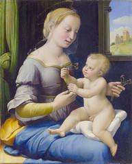 Raphael: The Madonna of the Pinks (La Madonna dei Garofani) (petrus.agricola) Tags: london high gallery image madonna national resolution raphael santi dei pinks raffaello sanzio garofani