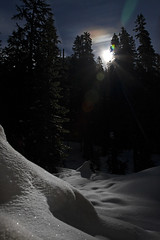 Moon Fun (PatT&5) Tags: snow fullmoon moonlight snowshoeing cascademountains snoqualmiepass