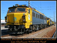 Paraiso Mitsubishi (Powell 333) Tags: españa train canon eos spain railway trains leon 400 powell 005 railways león mitsubishi 018 022 castilla japonesas ferrocarril renfe 025 952 clasificacion 251 adif ffcc japos operadora 251005 leónclasificación 251022 251025 269952 269018 clasifiación leonclasificacion