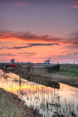Late afternoon HDR (Alja Vidmar | ADesign Studio) Tags: longexposure sunset sky tractor clouds pipes straw sherpa hdr 200r bracketing cokin velbon gnd photomatix nd4x nd8x