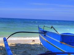 blue sea sky beach clouds sand philippines tropical fishingboat tropics mindanao canong12