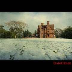 Foxhill House again... before all the snow melts. (sisyphus007) Tags: uk winter england lake texture grass canon landscape reading university meadow 7d law berkshire readinguniversity alfredwaterhouse canon7d tatot magicunicornverybest magicunicornmasterpiece